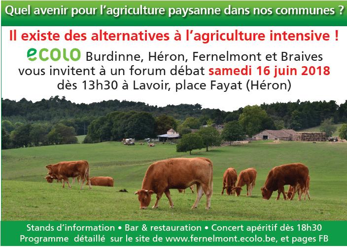 """Ce 3 octobre en conseil communal: Nos agriculteurs """"paysans"""" demandent à Burdinne de s'engager à les aider à se tourner vers un modèle agricole respectant leur travail, leur production, leur (notre) santé ainsi que nos terroirs."""